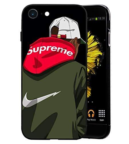 Just Do It Logo iPhone 6/6S Custodia, Sottile Lucido Morbido TPU Silicone Parte Posteriore in Vetro Temperato Case Bumper Cover per iPhone 6/6S - Rosso
