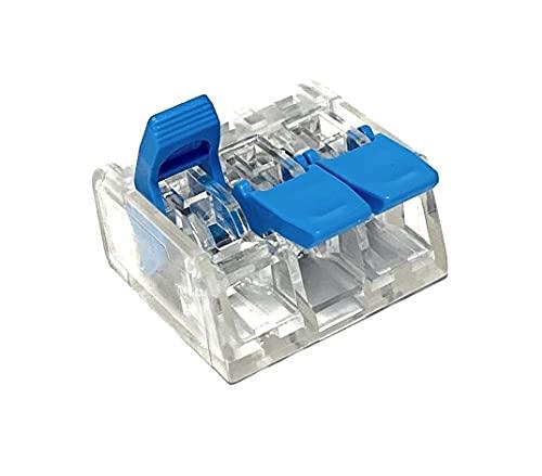 50 Stück 221-613 Verbindungsklemme 3 Leiter mit Betätigungshebel 0,5-6 qmm kleine Bauform, transparent - COMPACT-Verbindungsklemmen, 3-Leiter, 4 mm² -