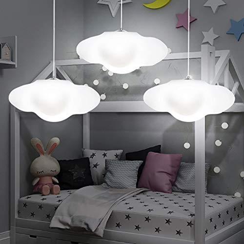 Creatieve witte kunststof drijvende wolken kroonluchter voor kinderkamer decoratie LED 16 kleuren afstandsbediening dimmen hanglamp