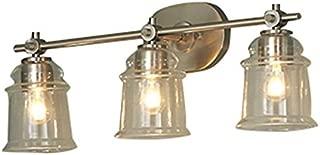 allen + roth 3-Light Winsbrell Brushed Nickel Bathroom Vanity Light