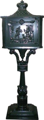 Casa Padrino Standbriefkasten Antik Jugendstil Grün Mod5 Briefkasten Postkasten Alu - Säulenbriefkasten