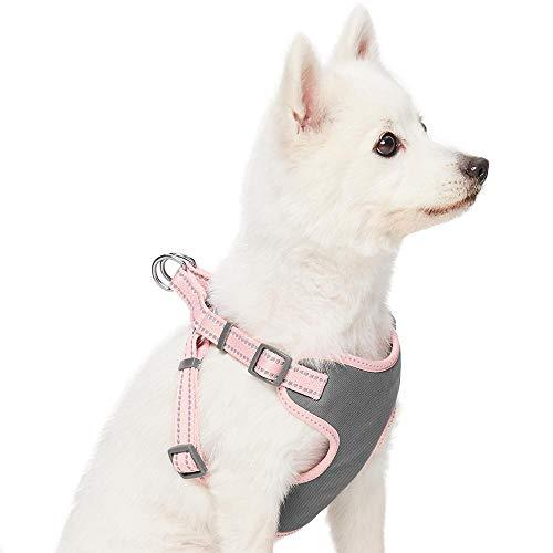 UMI. Essential Pastel - Arnés Tipo Chaleco para Perros Reflectante S, Contorno del Pecho 45-53,5 cm, arneses Ajustables para Perros (Rosa bebé)
