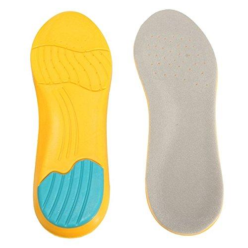 TENGGO Memory-Schaum Atmungsaktive Orthotische Bogen Schuh-Einlagen Sport-Einlage Fersenkissen Squishies Squishy Pad-L