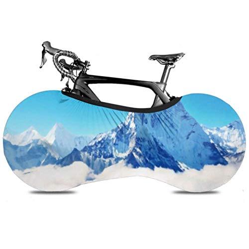 HJHJJ Bicycle Wheel Cover Mountain Peak Everest Highest World National Anti-dust Bike Indoor Storage Bag Scratch-proof, Washable High Elastic Tire Packag