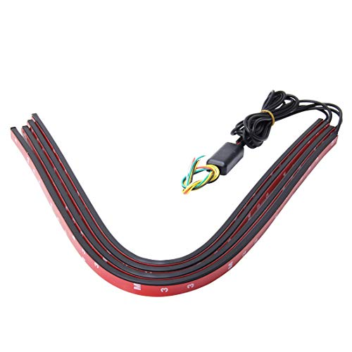 Yangeryang Las Luces Decorativas, Luces Que Destellan 15W LED Del Coche De La Red Lights Una Fricción Cuatro Emblema Ojos Luces De Circulación Diurna LED De Coche Universal De Advertencia Del Flash De
