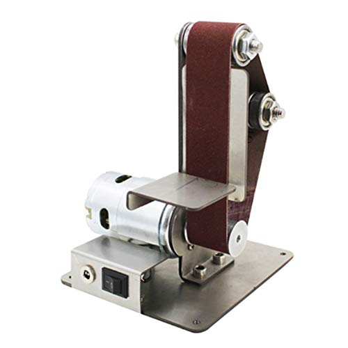 Dvluck Mini lijadora de banda para lijadora de banda lijadora de banda abrasiva, 775 sin adaptador,…