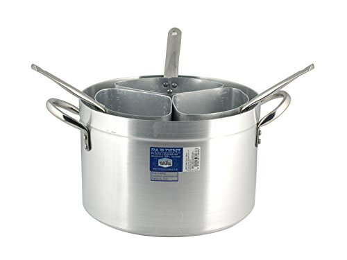 PARDINI Casseruola Alluminio Alta Tre Spicchi 1 Pentole e Preparazione Cucina, Grigio, 34 cm
