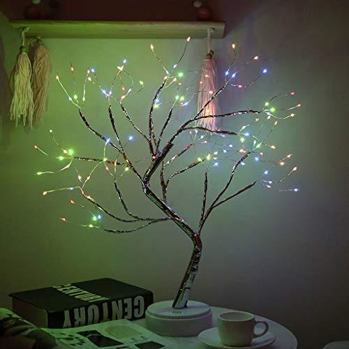 Lámpara de Árbol de Hadas, Lámpara de Árbol Bonsai de 36/108 Luces LED, Interruptor Tactil, Luz Artificial de Bricolaje, Funciona con Batería/USB Luz de Mesa (Color : Color)