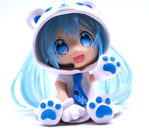 Vocaloid Chibi Figur von Miku Hatsune im Eisbärenkostüm(Blau)
