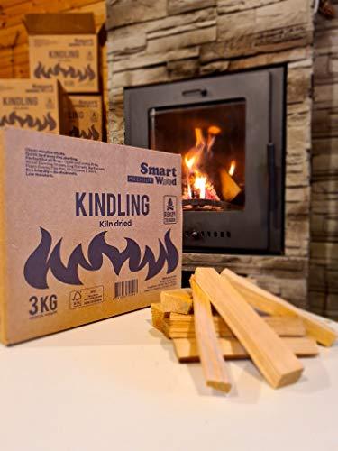 Anzündholz - Premium ofengetrocknet - einfache Aufbewahrungsbox - ca. 2,8 kg - perfekt für alle Brände - geringe Feuchtigkeit - sofort brennfertig - nachhaltig angebautes Hartholz