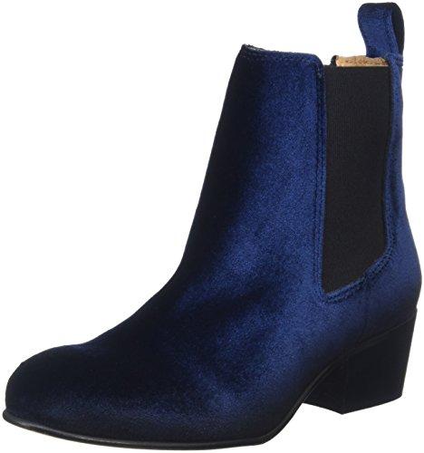 SELECTED FEMME Damen Sflondon Velvet Chelsea Boots, Blau (Dark Navy), 39 EU