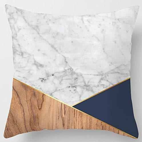 PPMP Funda de cojín Natural Funda de Almohada geométrica, Utilizada para la decoración del sofá del hogar Funda de Almohada Cuadrada Funda de cojín A1 45x45cm 1pc