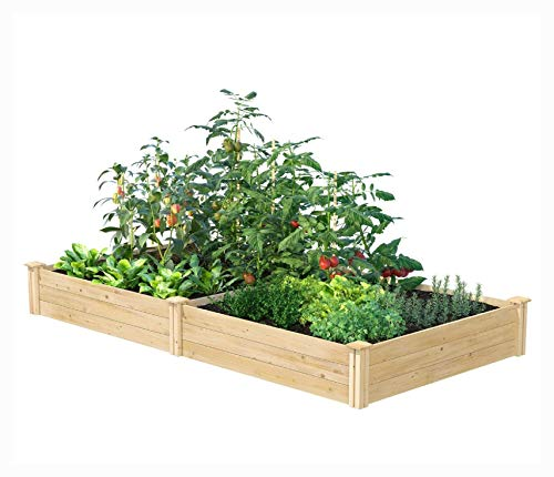 Planter, Cedar 4ft x 8ft x 10.5in Raised Garden Bed - Made in USA