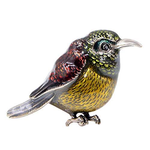 PicZhiwenture Broche Pájaro de Esmalte para Mujer Alfileres de Moda de Animales Coloridos Nuevo diseño Niños Abrigo Broche Bolso Accesorios Regalo