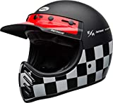 BELL HELMET MOTO-3 FASTHOUSE CHECKERS BLACK/WHITE/RED HELMET M
