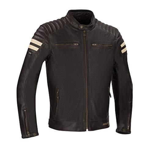 Segura Motorradjacken STRIPE PERFO Braun/Beige, Braun/Beige, L