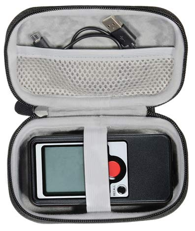 CaseSack Portable Radar Case Compatible with Pocket Radar Smart Coach, Ball Coach/ Pro-Level Speed Training Tool and Radar Gun, Classic Model/Speed Radar, mesh Pocket for Cable and Wrist Strap