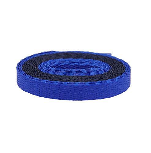 Cordones de 8 mm para mujer, con combinación de doble color, tipo plano, 180 cm