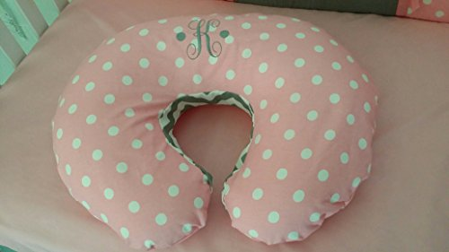 Nursing pillow cover, fits all standard size nursing pillows, zipper closure, Boppy pillow cover, handmade to match your theme, Embroidered/ personalized
