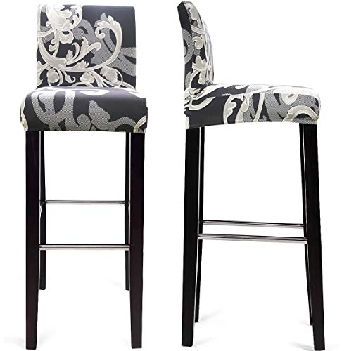 MOCAA Dining Chair Covers,Bar Stool Chair Covers, Barstool Slipcovers 2 Pack (Style E)
