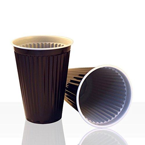 1.000 Stück Automatenbecher, Kaffeebecher braun/weiß 180ml