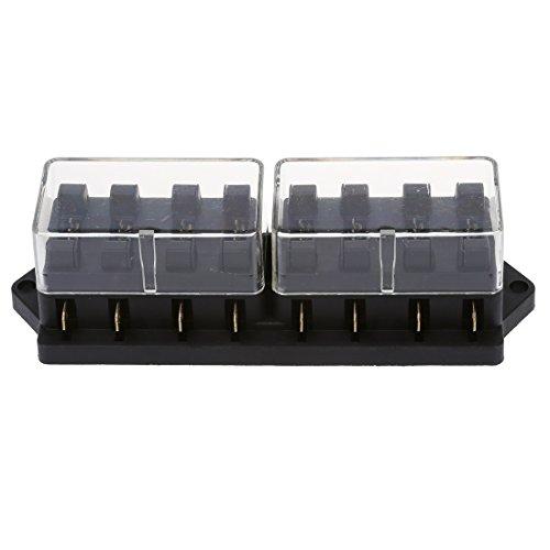 Gesh Caja de la caja del titular del fusible del enchufe 12V 8 fusibles para coche auto