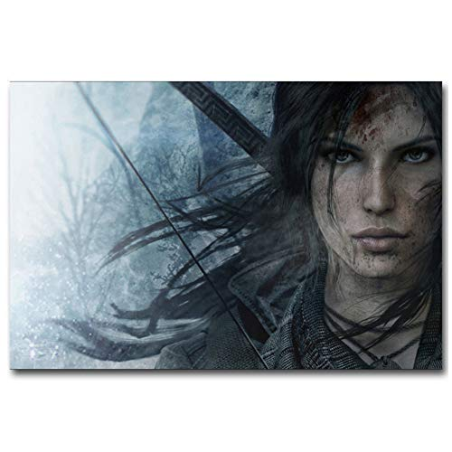XZRDP Rise of The Tomb Raider Lara Croft Canvas Art Posters and Prints Canvas Painting Home Decor -24x36 IN Sin Marco
