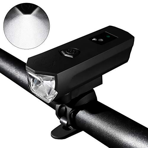 Macabolo Smart Sensing Fietslicht, waarneming USB oplaadbare koplamp, achterlichten, paardrijden, mountainbike, koplamp voor straat en bergen