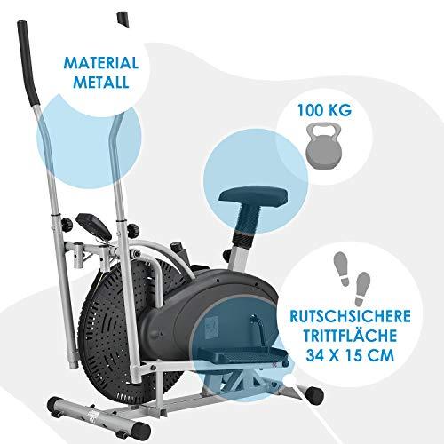 ArtSport 2in1 Crosstrainer & Heimtrainer leiser Ellipsentrainer Ergometer - 5