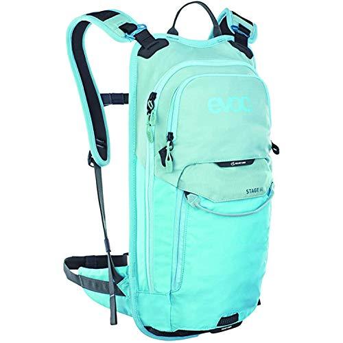 EVOC STAGE 6 technischer Bike-Rucksack für Enduro Biking und andere Outdoor-Aktivitäten (durchdachtes Taschenmanagement, maximale Rückenbelüftung, inkl. 2l Trinkblase), Aqua Blau / Neon Blau