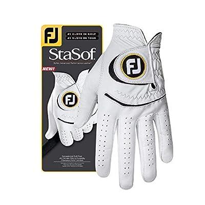FootJoy Men's StaSof Golf Glove White Large, Worn on Right Hand