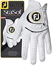 FootJoy Men's StaSof Golf Glove White Cadet Large, Worn on Left Hand