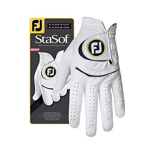 FootJoy Men's StaSof Golf Glove White Cadet Small, Worn on Left Hand