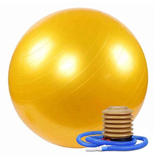WTSMJD Pelota de Yoga Pelota Pilates de ,Extra Grueso Equipo Deportivo Antichoque para Yoga, Pilates, Gimnasio ect,Amarillo,50cm