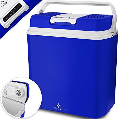 KESSER® 24 Liter Kühlbox   KÜHLT und WÄRMT   Thermo-Elektrische Kühlbox 12 Volt und 230 Volt   Mini-Kühlschrank   für Auto und Camping   EEK A+++   Mini-Kühlschrank   Auto und Camping Blau