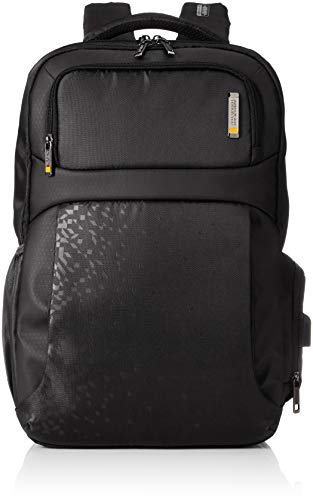 American Tourister Womens 2 Compartment Zip Closure Laptop Backpack (Black_Free Size)