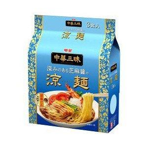 明星 中華三昧 涼麺 3食パック×8袋入 (24食)