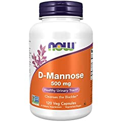 Healthy urinary tract/cleanses the bladder: D-mannose is a naturally occurring simple sugar that your body utilizes to help cleanse the urinary tract and maintain a healthy bladder lining. Take 3 NOW D-Mannose 500 milliggrams capsules 1 to 3 times da...