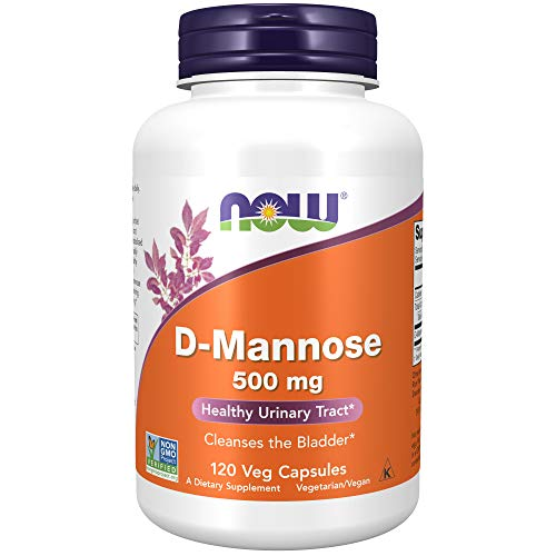 NOW Foods Supplements, D-Mannose 500 mg, Non-GMO Project Verified, Healthy Urinary Tract, 120 Veg Capsules