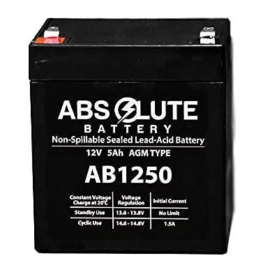 New New AB1250 12V 5AH SLA Battery Black Decker 243215 12V 5Ah Lawn Garden