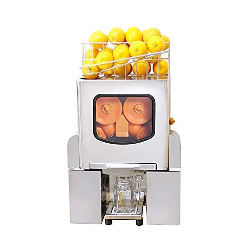 Máquina exprimidor de naranja comercial 120W, Máquina automática para hacer bebidas de jugo, 20-30 naranjas por minuto, CE/FCC