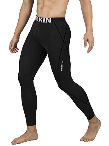 DRSKIN Compression Cool Dry Sports Tights Pants Baselayer Running Leggings Yoga Rashguard Men (2XL, DABB11)