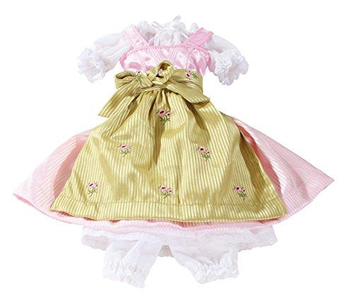 Götz 3402229 Kombination Dirndl Special Day - Puppenbekleidung Gr. XL - 5-teiliges Bekleidungs- und Zubehörset für Stehpuppen von 45 - 50 cm