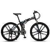 Plegable Bicicleta De MontañA, Bikes, Doble Freno Disco, Cuadro 26', 24 Velocidades, Bicicleta De Ciudad , Bicicleta De Trekking Unisex Para Adultos, Bicicleta De Carretera, Bicicleta Todoterreno