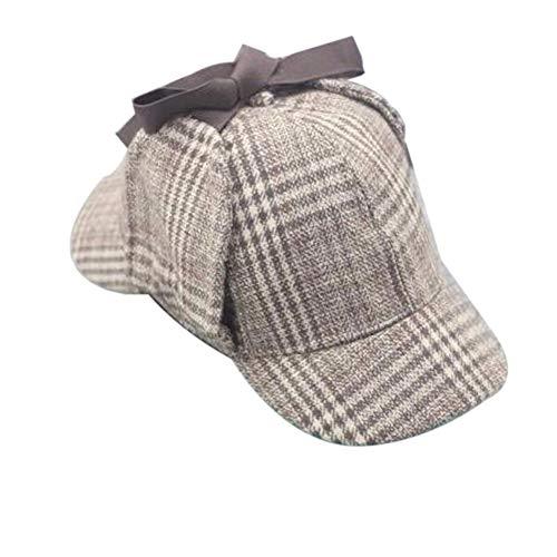 BYFRI Sherlock Holmes Detective Sombrero Gorro De Sombrero Para Adultos Y Niños