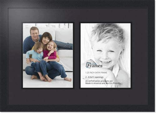 ArtToFrames Collage Photo Max 56% OFF Frame Double Mat - 8.5x11 Free shipping on posting reviews Openi with 2