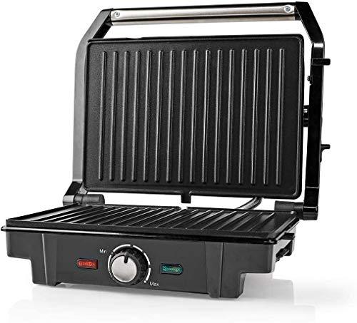TronicXL Kontaktgrill 1600W aufklappbar Oben unten Grillplatte Elektrogrill Elektro elektrischer Grill Tischgrill AntiHaft Beschichtung Panini Maker Sandwich Burger BBQ Oberhitze Unterhitze