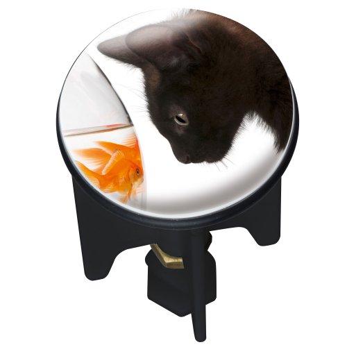 WENKO Waschbeckenstöpsel Pluggy® Cat - Abfluss-Stopfen, für alle handelsüblichen Abflüsse, Kunststoff, 3.9 x 6.5 x 3.9 cm, Mehrfarbig