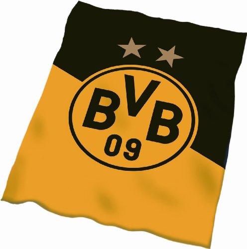 Borussia Dortmund Fleecedecke Schrägstreifen