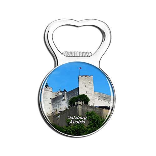 Weekino Salzburg Hohensalzburg Schloss Österreich Bier Flaschenöffner Kühlschrank Magnet Metall Souvenir Reise Gift